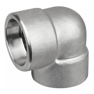 China Forged Elbow Manufacturer ASME SA182 F321 Stainless Steel Socket Weld 90 Degree Elbow ASME B16.11 DN80 3000#