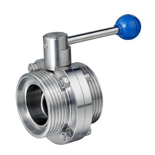 Stainless Steel Sanitary Male Butterfly Valve With Pull-Rod Handle