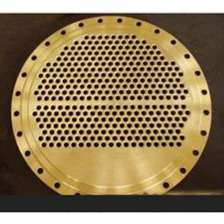 Carbon Steel Golden Coated Tube Plate Flange