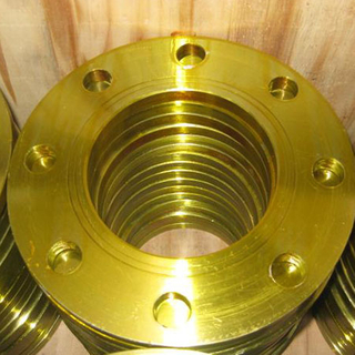 Golden Coating Forged Plate Flanges A694 F42, F46, F48, ASTM A182 FF Plate Flange, DN80, PN16, UNI2278-67